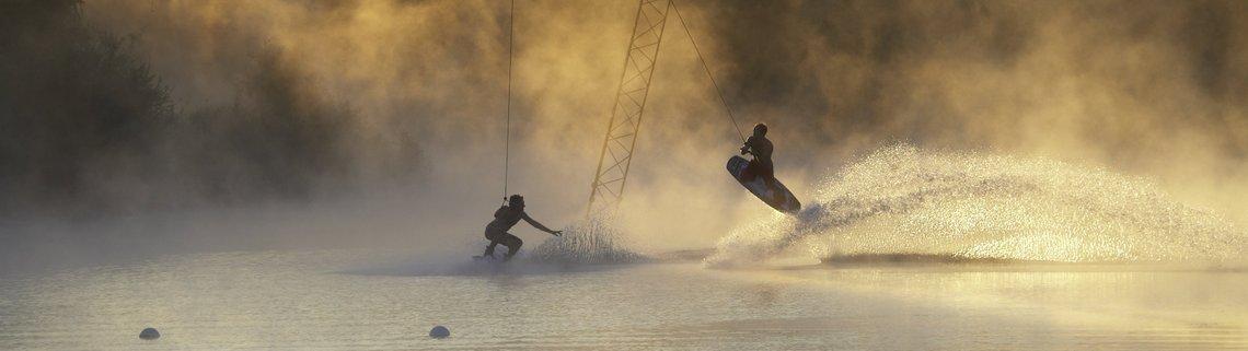 Air Railey zu zweit im Nebel