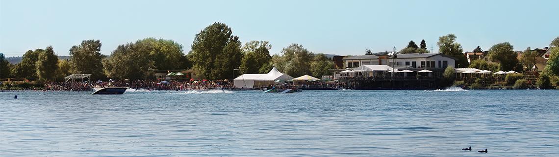 Seepark aus der Ferne